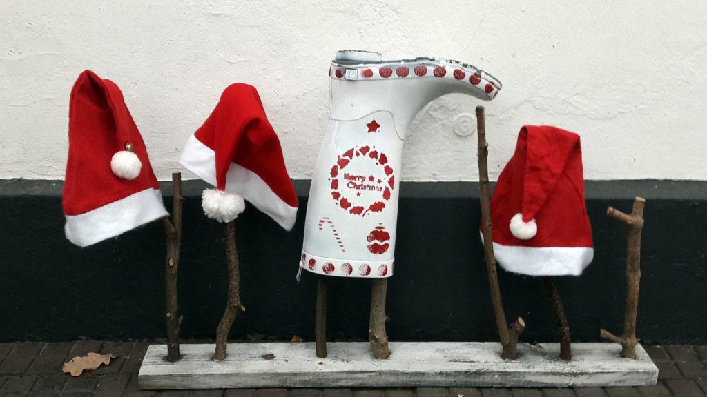 xmas gummistiefel weihnachtsmützen