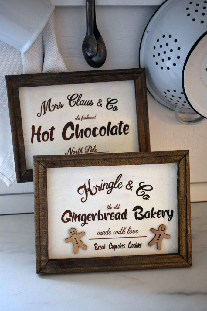 weihnachtschilder chocolate gingerbread