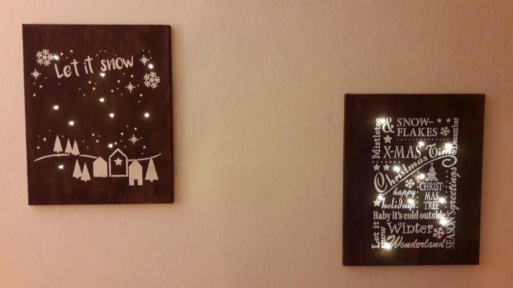 xmas leuchtende schilder