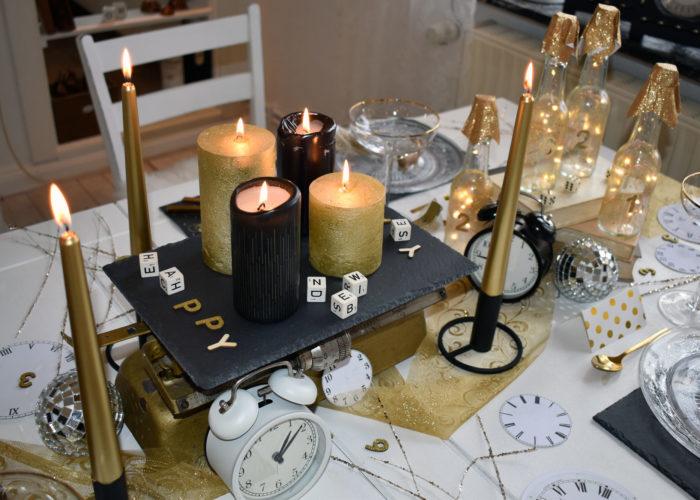 Simple Tischdeko zu Silvester