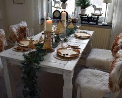 Rustikale Tischdeko zu Weihnachten