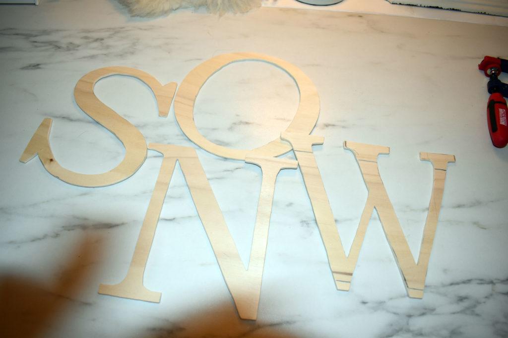 Buchstaben SNOW DIY