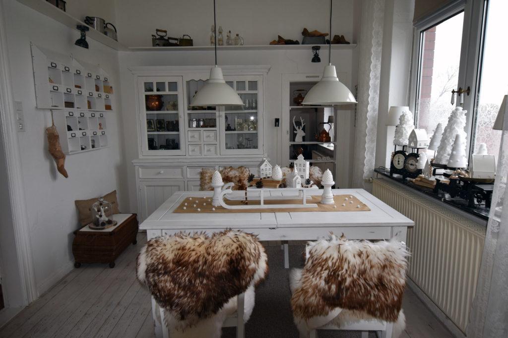 Esszimmer landhaus winterdeko