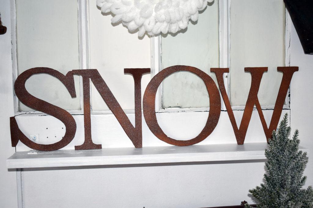 Buchstaben SNOW DIY Metalloptik
