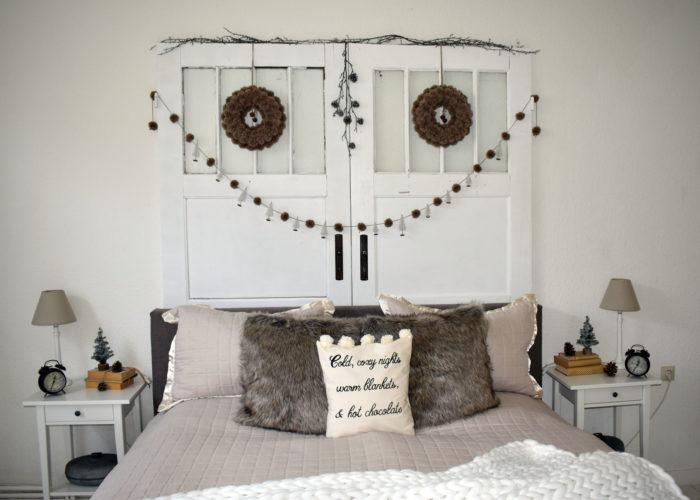Winterliches Schlafzimmer