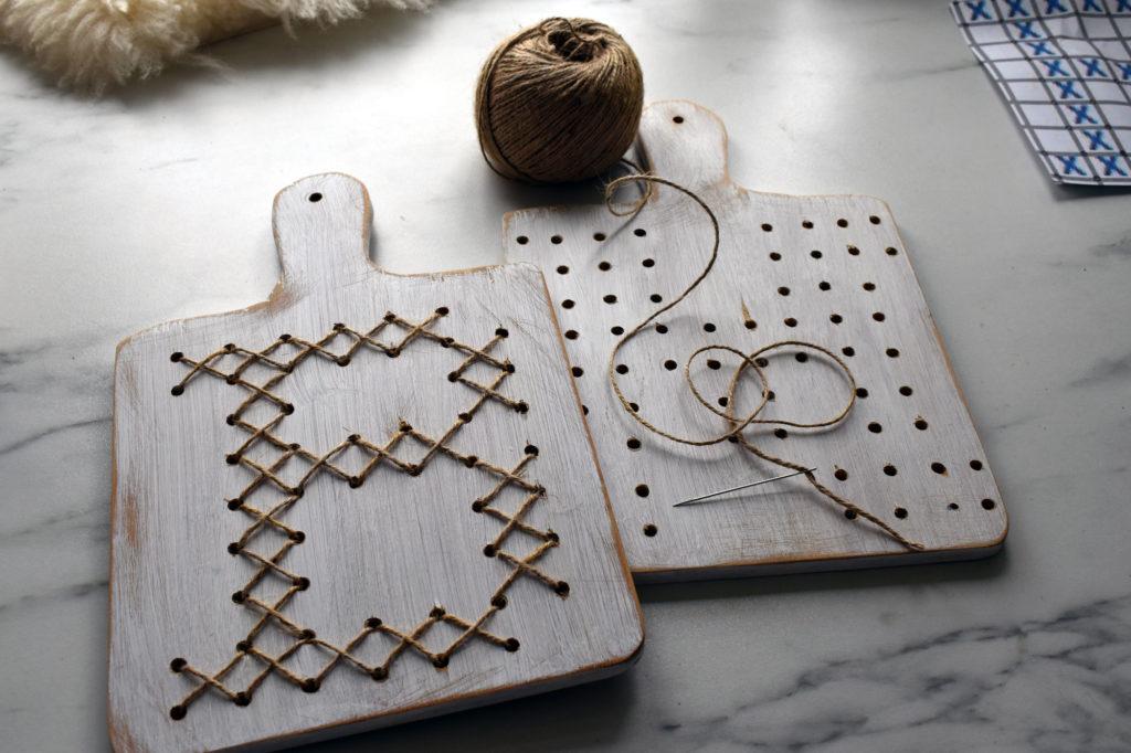 DIY Holzschilder mit Monogram