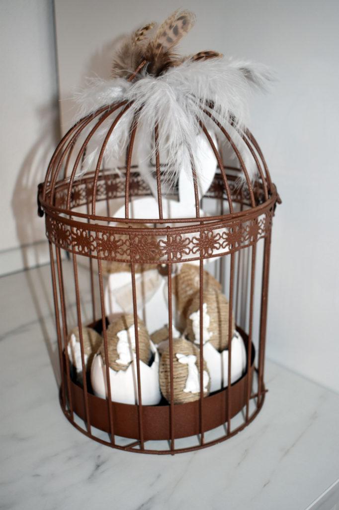 deko ostern alter vogelkaefig