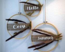 Sommerdeko DIY Bohostyle