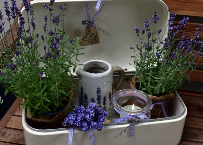Sommerdeko mit Lavendel