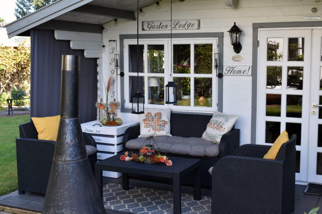 Gartendeko Terasse Herbstdeko Farmhaus
