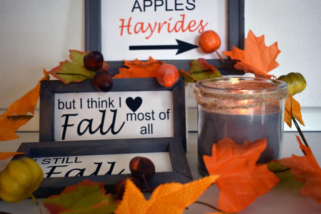 DIY Herbstdeko Schilder Farmhaus Landhaus