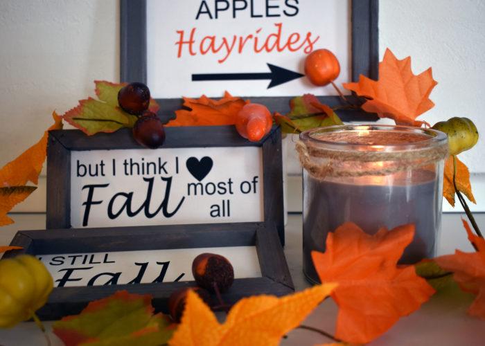 DIY Herbstschilder