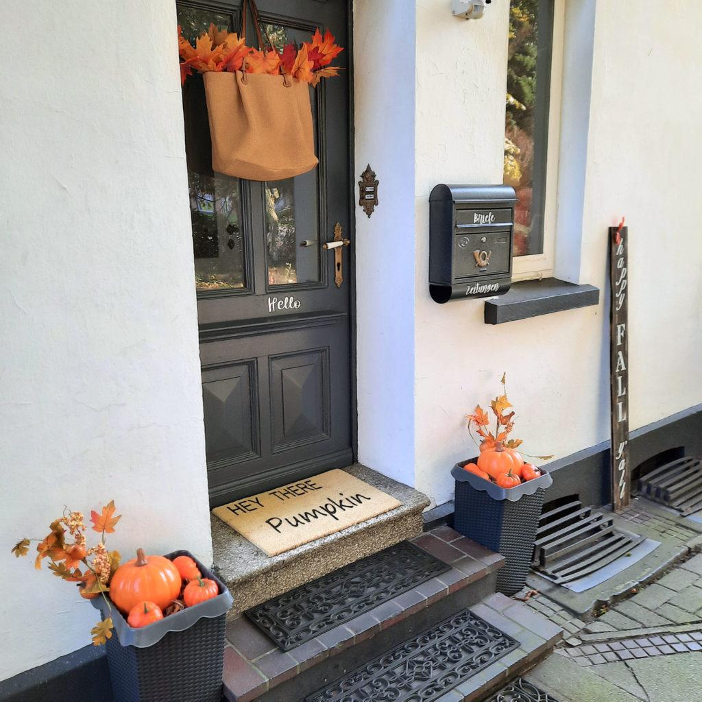 DIY Fussmatte Pumpkin Herbstdeko Landhaus Farmhaus