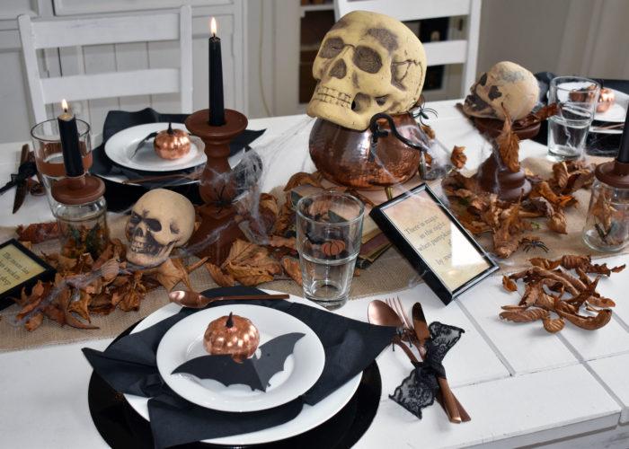 Rustikale Halloween-Tischdeko